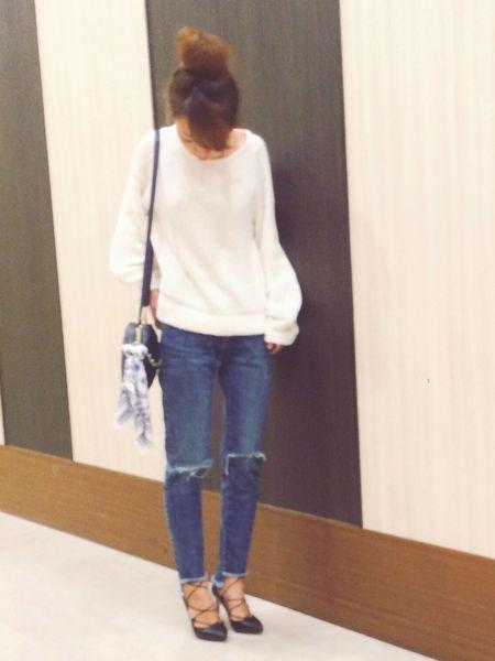 白×デニム1