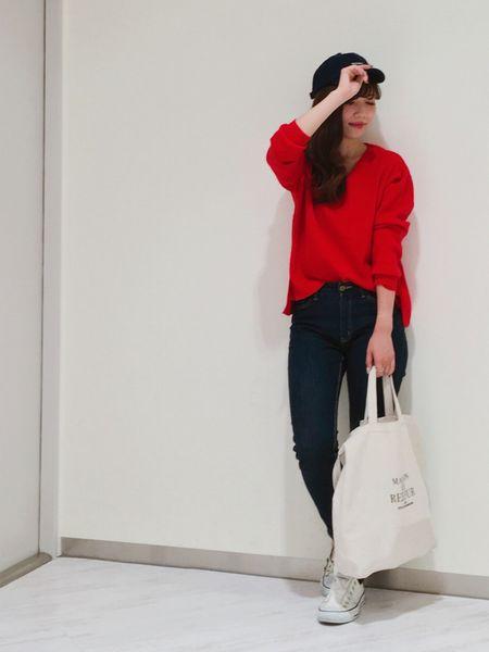 赤×デニム1
