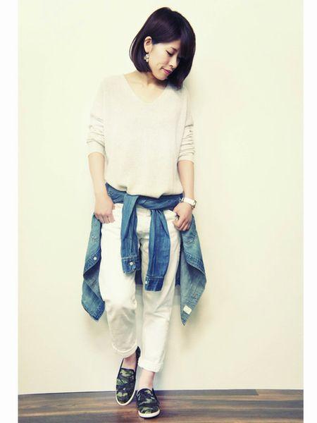 白×白ボトムス1