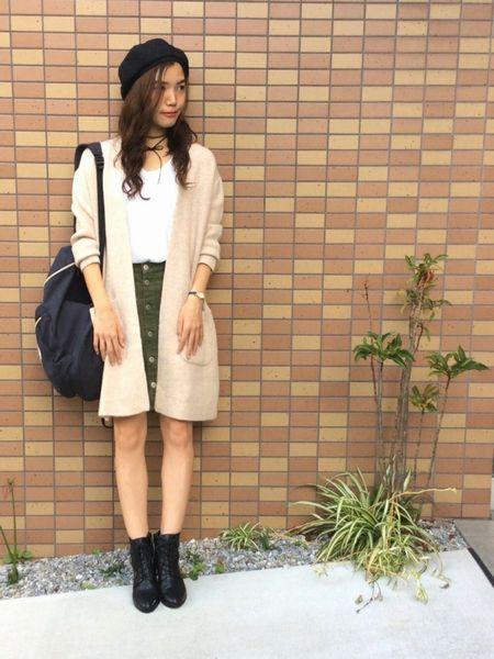 カーデ×スカート1